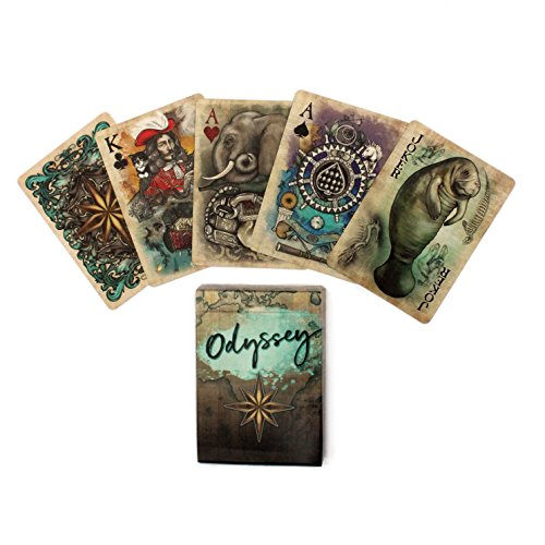 Odyssey Historical Themed Poker Size Playing Cards Uniquely Illustrated for Cardistry or Magic Card Tricks ()
