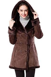 fb5061eab BGSD Women's Chloe Suede Leather Parka Coat (Regular and Plus Size ...
