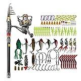 FISHINGSIR Fishing Rod and Reel Combo-Carbon Fiber Telescopic Fishing Rod Gear Full Kit