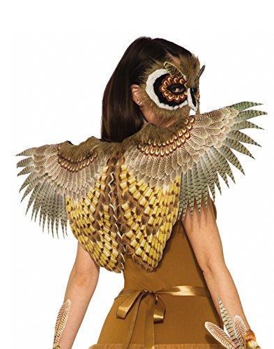 Forum Novelties Women's Non-Feathered Owl Wings, Multi, -