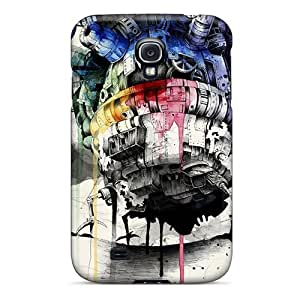 [SyQ677-ikd]premium Phone Case For Galaxy S4/ Howls Moving Castle Tpu Case Cover
