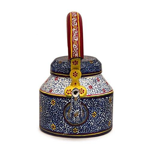 Indian Traditional Hand Painted Tea Kettle Tea Pot Steel : B