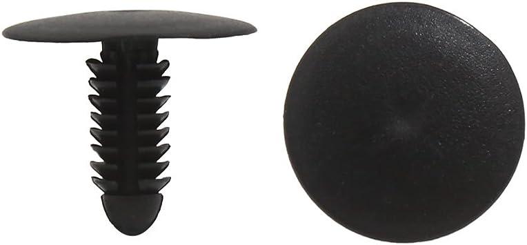 sourcingmap/® Foro da 8 mm dia graffe in plastica lampo auto porta rivetti ad espansione nero 20 pz.