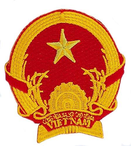 Patch Aufnäher bestickt Wappen armoirie Vietnam Vietnamesisch Flagge zum Aufbügeln