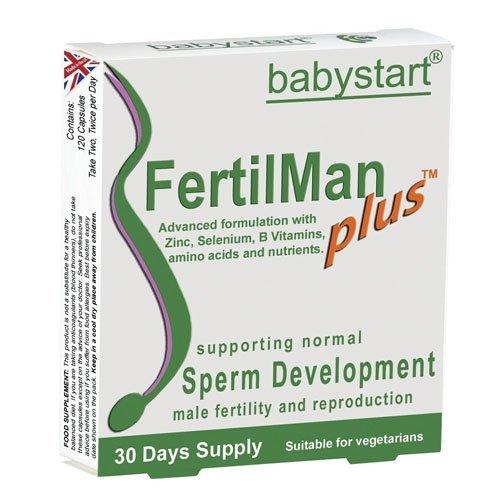 Babystart Fertil Homme Plus de Sperme Support - boîte de 120 Gélules par Babystart