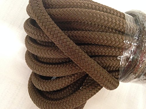 Yacht Braid Polyester Rope Brown 5/8 Inch by 50 Feet