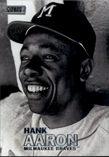 2016 Topps Stadium Club #75 Hank Aaron Milwaukee Braves Baseball Card - Milwaukee Braves Stadium