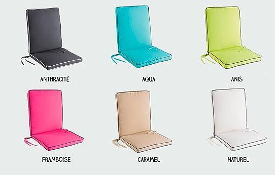 Coussin fauteuil salon de jardin - 90 x 42 x 5 cm - Garden ...