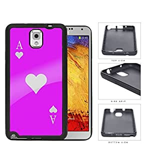 Ace Of Spade Pink Playing Card Rubber Silicone TPU Cell Phone Case Samsung Galaxy Note 3 III N9000 N9002 N9005