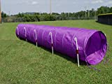 14' Dog Agility Tunnel (Purple) with 6 J-Shape