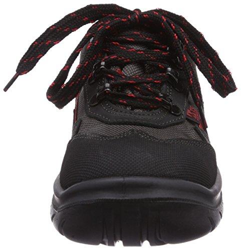 MTS Sicherheitsschuhe   Monaco S2 7152, Chaussures de sécurité mixte adulte, Noir (schwarz/rot), 44