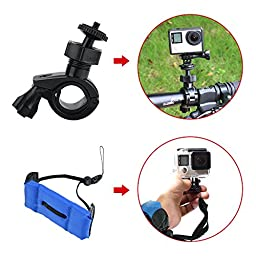 Toughsty™ 45-in-1 Action Camera Accessory Outdoor Sports Essentials Kit for GoPro Hero 5 4/3+/3/2/1 with Carrying Case