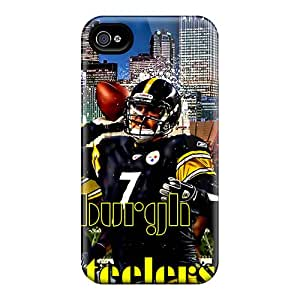 Iphone 4/4s Case Cover - Slim Fit Tpu Protector Shock Absorbent Case (pittsburgh Steelers)