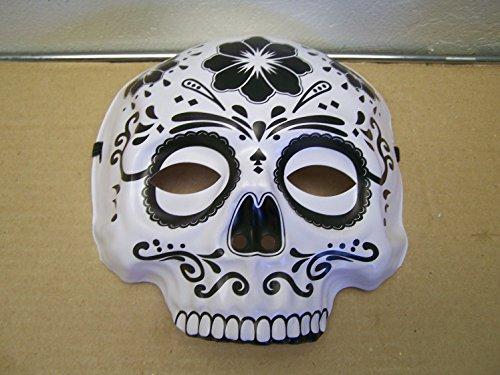 Sugar Skull Masks (Dia de los Muertos Day of the Dead Sugar Skull Halloween Mask)