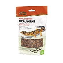 Zilla Reptile Munchies Mealworm, 3.75-Ounce