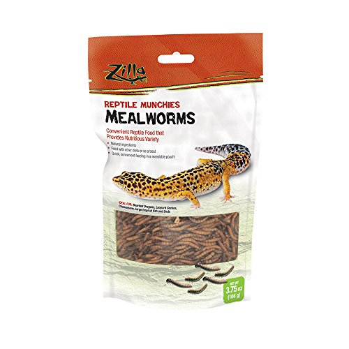 - Zilla Reptile Food Munchies Mealworm, 3.75-Ounce