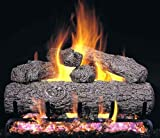 """""""R.H. Peterson RG4-19-10 – 19″"""" Golden Oak Vented Gas Logs with Burner for Natural Gas Fireplaces."""""""
