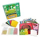 mosaic sticker by number - Joan Miro kids Mosaic stickers 8 Sheets Painting kit Sticker-by-number Christmas Gift Box ( Animal Homeland)