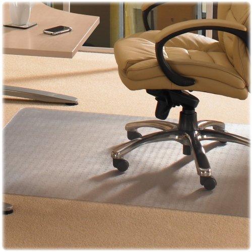 Cleartex Advantagemat Standard Chair Mat - Carpeted Floor, Floor, Home, Office - 60quot; Length x 48quot; Width - Clear