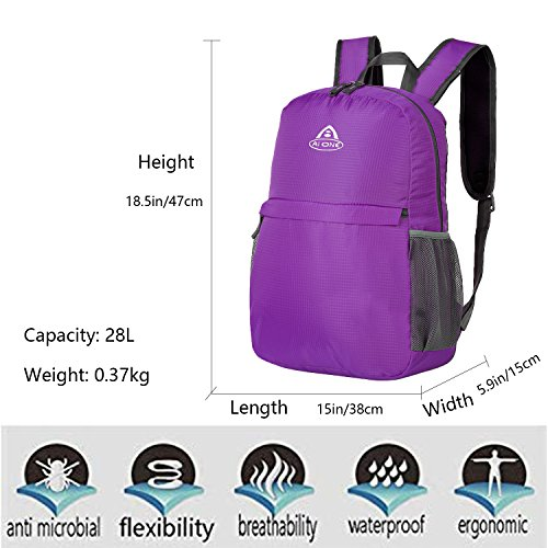 Backpack Packable Purple Outdoor Women Cycling School 28L Camping Foldable 3 Men AI A Way for Carry on ONE x1qg7wZE
