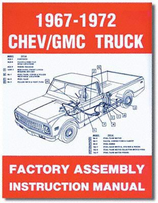 1967-1972 Chevy Chevrolet GMC Truck Assembly Manual (with Decal) ()