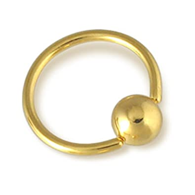 Mspiercing Gold Tone Cbr Clit Ring  2