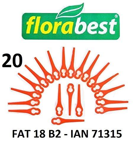 Flora Best 20 Plástico Cuchillo Flora Best batería ...