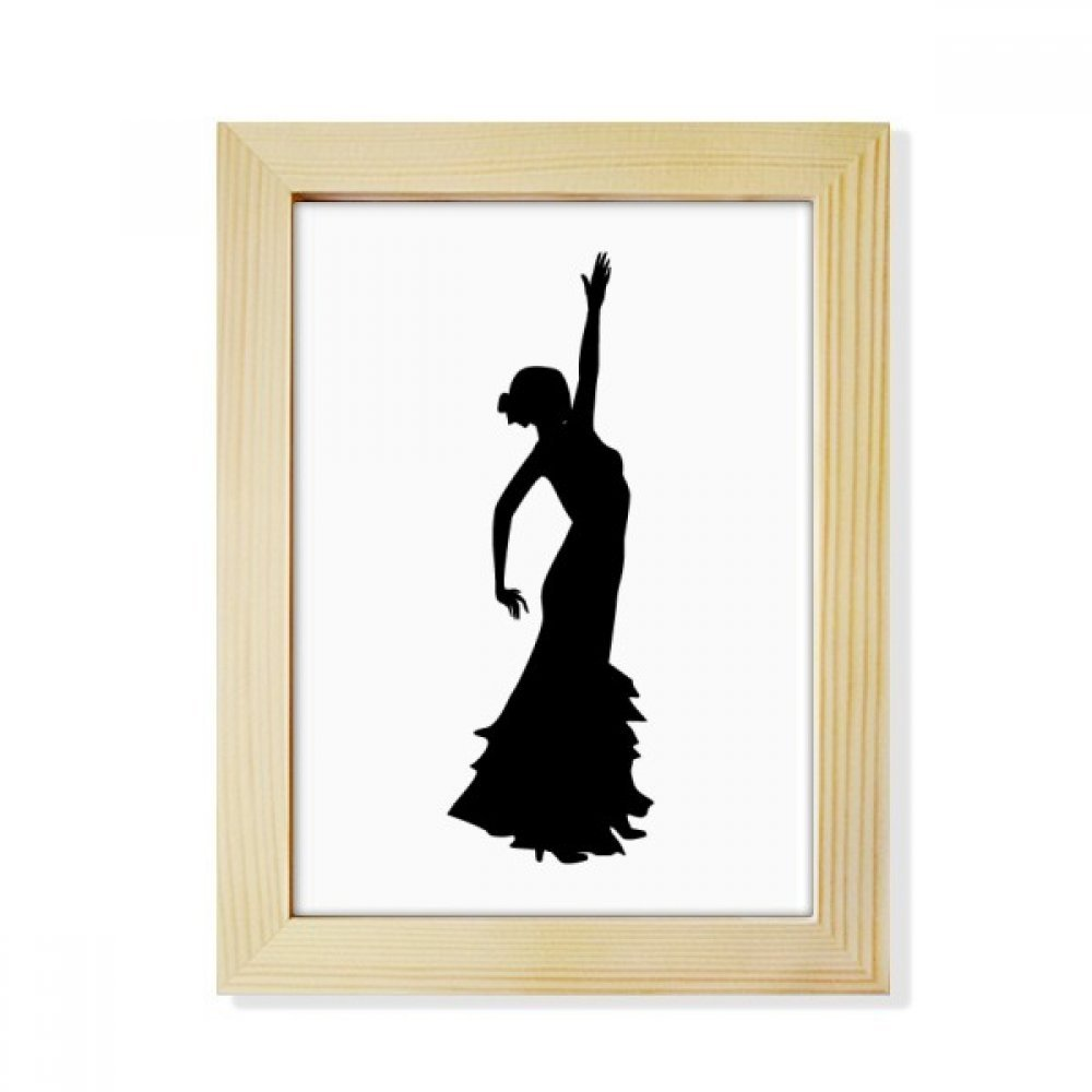 DIYthinker Folk Dance Performance Dancer Desktop Wooden Photo Frame Picture Art Painting 6x8 inch
