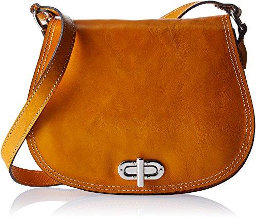 - Floto Women's Saddle Bag in Yellow Italian Calfskin Leather - Handbag Shoulder Bag