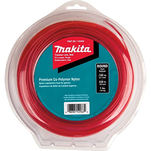 "Makita T-03442 Round Trimmer Line, 0.105"", Red, 230', 1"