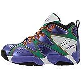 Reebok Kid's Kamikaza Basketball Shoes Purple and Orange 6Y