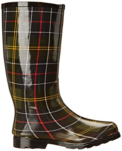 Multi Plaid Boot Puddles Nomad Green Rain Women's RqXq4Ua