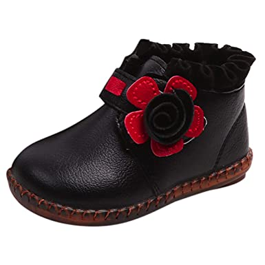 ❤ Zapatos de Princesa para niñas, cálido Plus Terciopelo Niños de bebé Caliente Niños niñas Floral Martin Sneaker Botas niños Zapatos Casuales de bebé ...