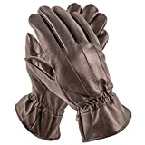 Pierre Cardin Insulated Sheepskin Leather Gloves for Men for Driving, Winter