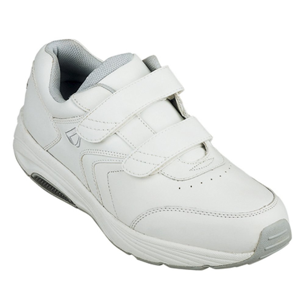 InStride Newport Women's Comfort Therapeutic Extra Depth Walking Shoe: White 9.0 Medium (B) Velcro