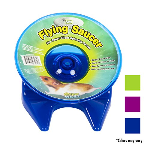 Ware-Manufacturing-Flying-Saucer-Exercise-Wheel-for-Small-Pets-5-Inch-Colors-may-vary