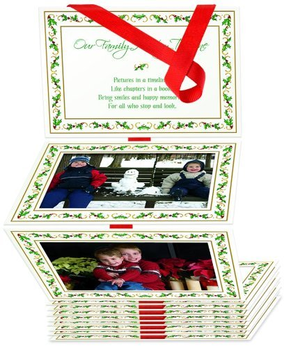 The Grandparent Gift Co. Photo Album, Family Holiday Timeline (Christmas Cards Panel Photo)