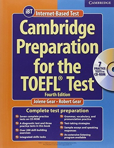 Cambridge Preparation for the TOEFL Test (Book & CD-ROM) by Jolene Gear (2006-09-11)