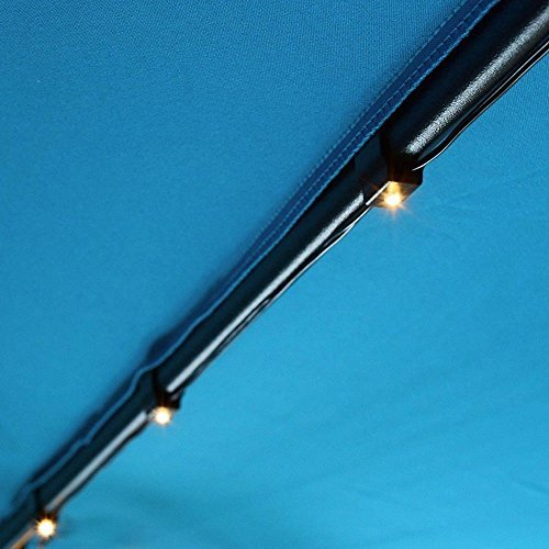 30 LED Lighting Elliptic Shape Umbrella Solar Panel String Lights Warm White for 8ft/9ft 6-rib Outdoor Patio Aluminum Umbrellas Decoration