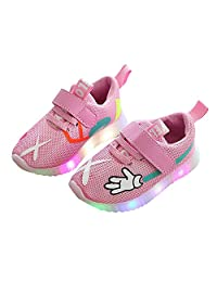 BININBOX Kids Casual Light Up Shoes Breathable Mesh Led Sneakers for Girls Boys