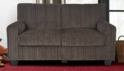 Serta RTA Palisades Collection 61″ Loveseat in Riverfront Brown, CR43530PB