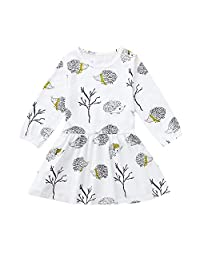 Jarsh Toddler Kids Baby Girl Hedgehog Princess Dresses Party Clothes Outfits
