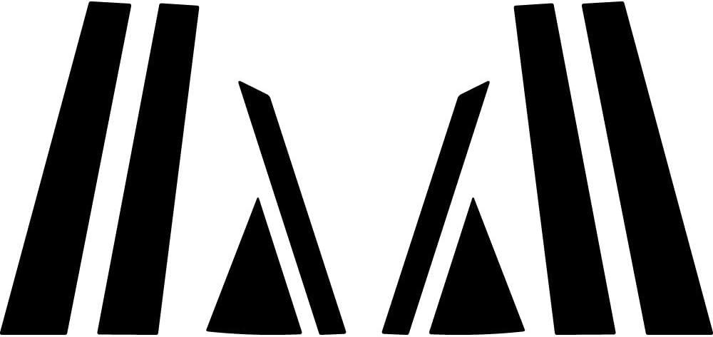 Matte Rvinyl Rtrim Pillar Post Decal Trim for Kia Sportage 2011-2016 Black