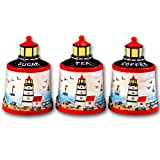 Lighthouse 3 Pc Storage Canister Jar