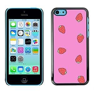 Caucho caso de Shell duro de la cubierta de accesorios de protección BY RAYDREAMMM - Apple iPhone 5C - Pink Pattern Summer