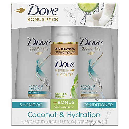 Dove Beauty Hair Coconut & Hydration Shampoo, Conditioner an