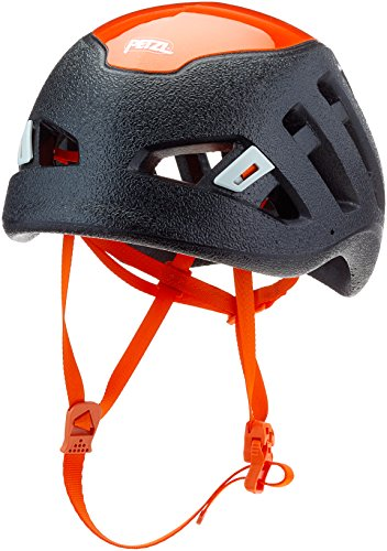 PETZL - Sirocco, Ultra-Lightweight Climbing and Mountaineering Helmet, Black/Orange, Medium/Large