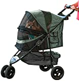 Pet Gear No-Zip Special Edition 3 Wheel Pet Stroller for Cats Dogs - Zipperless Entry - Easy One-Hand Fold - Removable Liner