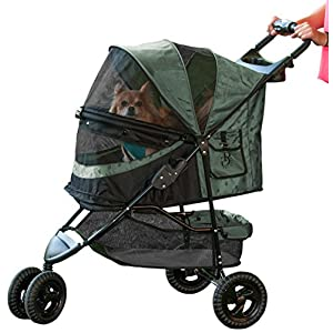 Pet Gear No-Zip Special Edition 3 Wheel Pet Stroller for Cats/Dogs, Zipperless Entry, Easy One-Hand Fold, Removable Liner 52