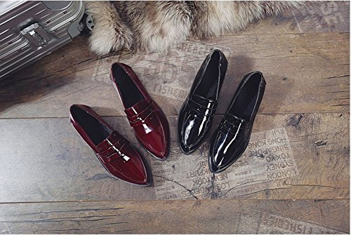 Boca Baja de Charol Acentuada con Zapatos Pequeños Zapatos Zapatos , vino rojo , EUR37